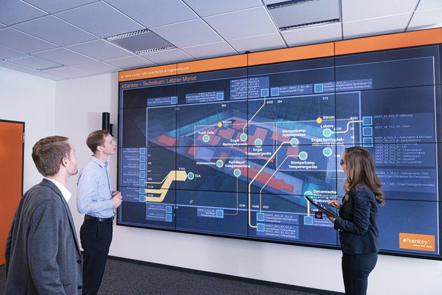 Lebenszyklusorientierte Multimaterialbauteile: Entwicklung nachhaltiger Lösungen in der Smart Factory im Life Cycle Design & Engineering Lab.