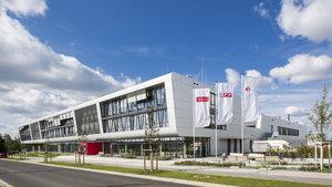 Außenaufnahme NFF-Forschungsgebäude am Braunschweiger Forschungsflughafen.