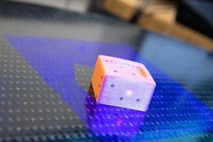 Vermessung eines 3D-gedruckten Bauteils.