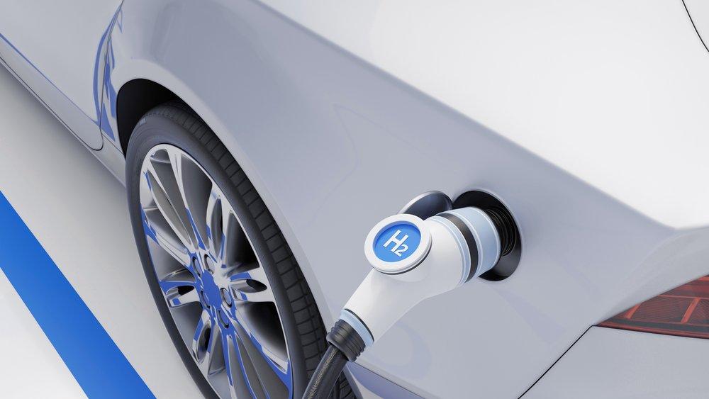 Auto, das mit Wasserstoff betankt wird.